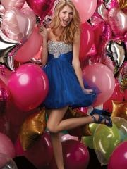 Hot Eye-catching Tulle Empire Tulle Skirt Cocktail Dress with Rhinestones Bodice
