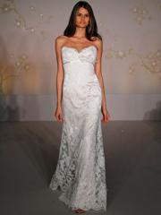 Hot Seller Sweetheart Lace over Satin Gown of Sheath Look