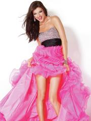 Incomparable High Low Style Sweetheart Sequined Bodice and Ruffled Skirt Quinceanera Dresses