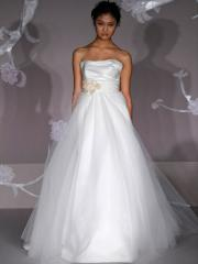 Legendary Princess Satin Tulle Gown of Decorative Flower