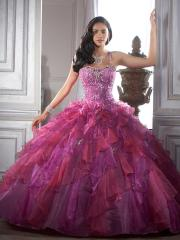 Luxurious Ball Gown Style Spaghetti Straps Rhinestone Accented Ruffled Quinceanera Dresses