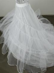 Luxurious Multi-layered White Tulle Sweep Train Petticoat