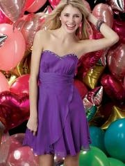 Modern and Chic Beaded Sweetheart Neckline Chiffon Cocktail Dress with Zippers