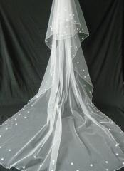 Morden Tulle Veil with Multi-seams