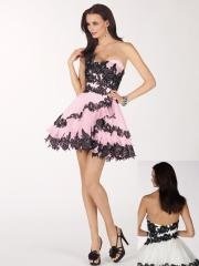 Newly Designed Dramatic Applique Sweetheart Satin Cocktail Dress with Mini-length