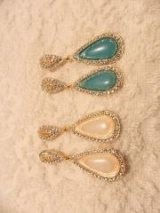 Noble Rhinestones Wedding Earring in bubble-shaped