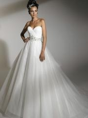 Off-Shoulder Chiffon Tiereed Ball Gown Wedding Dress