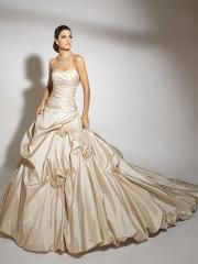 Nice Tiered Off-Shoulder  Pleated Ball Gown Wedding Dress