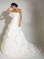Sexy Tiered Off-Shoulder  Sweep Train Pleated Wedding DressNice
