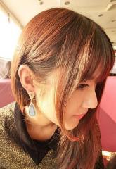 Retro colorful shiny rhinestone bridal earrings