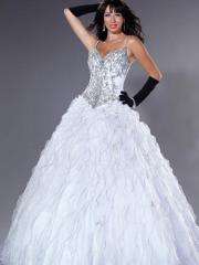 Romantic Ball Gown Charming Embroidery and Ruffle Embellishments Quinceanera Dresses