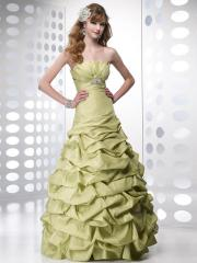 Romantic Ball Gown Style Strapless Neckline Pleated and Brooch Bodice Ruffled Quinceanera Dresses