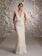 Romantic Bridal Gown V-Neckline Dress