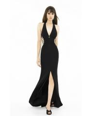 Sexy V-Neck Stain Cut-out Empire Evening Dress