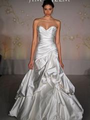Silver Satin Wedding Dress Exposed at Fashion Week