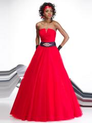 Simple Ball Gown Strapless Neckline Brooch Enhancing Tulle Quinceanera Dresses