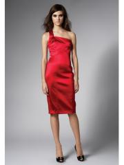 Sleeveless One-shoulder Knee-length Evening Dress for Fancy Party