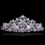 Splash Wedding Tiara with Crystals