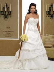 Splendid Ball Gown Strapless Sweetheart Chapel Train Satin Wedding Dress