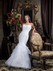 Such Elegant Mermaid with Spaghetti Straps Neckline Wedding Dress
