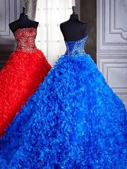 Sumptuous and Incomparable Ball Gown Sequined Bodice Ruffled Skirt Quinceanera Dresses