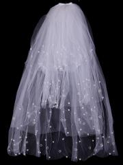 Sweet-heart Multiple Layer Tulle Veil with Beadings