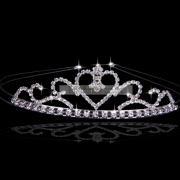 Sweet-heart Wedding Tiara in Crystals