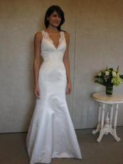 Trumpet White Laced Wedding Gown of Floor Length