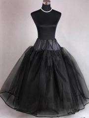 Unique Black Tulle Ball Gown Wedding Dress Petticoat