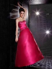Vintage Ball Gown Style Strapless Rhinestones Embellishment Full Length Satin Quinceanera Dresses