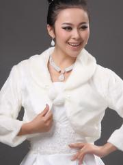 Vintage Bolero Wedding Jacket with Long Sleeves Wedding Wraps