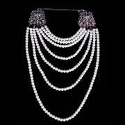 Vintage Bridal Jewelry Set with Multiple Pearls