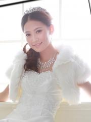 Warm Cape in Pure White Faux Fur with Ruched Details Wedding Wraps