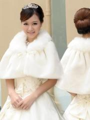 Wedding Wraps Elegant Concise Designed Faux Fur Wedding Bolero