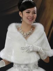Wedding Wraps Elegant Concise Designed Faux Fur Wedding Shrug