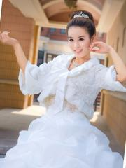 Wedding Wraps Marvelous High Collar Faux Fur Wedding Jacket